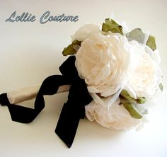 Items similar to Bridal bouquet wtih free garter set and boot - Wedding bouquet - Fabric bouquet on Etsy Fabric Bouquet, Fabric Roses, Flower Centerpieces, Wedding Centerpieces, Bridesmaid Bouquet, Wedding Bouquets, Rose Stem, Wedding Garter Set, Bridal Flowers