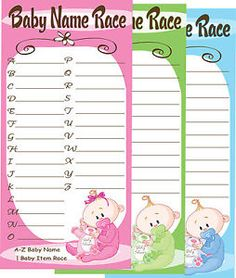 Baby shower game idea- race to give a name to every letter of the alphabet Shower Party, Baby Shower Parties, Baby Shower Themes, Baby Shower Decorations, Shower Ideas, Dr Seuss Baby Shower, Pop Baby Showers, Baby Mine, Dream Baby