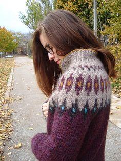 Ravelry: sweetbeanbag's Astrid Coat OOP :C Crochet Dog Sweater, Knit Crochet, Fair Isle Knitting, Knitting Yarn, Icelandic Sweaters, Fair Isle Pattern, Poncho, Knitting Projects, Mantel