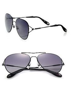 Givenchy 56MM Metal Aviator Sunglasses