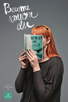 """""""Become Someone Else"""", a genius ad campaign for Mint Vinetu bookstore by Lithuanian advertising firm Love Agency Creative Advertising, Advertising Design, Advertising Ideas, Ads Creative, Funny Advertising, Advertising Space, Creative Journal, Creative Posters, Advertising Poster"""