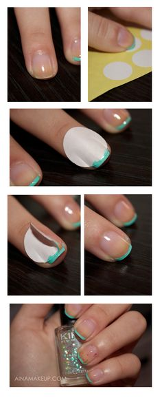 Nail tutorial by AinaMakeup it is in Spanish but by the pictures it looks simple and easy!