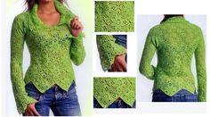 Que les parece esta hermosa propuesta en verde manzana? Es ideal para las que están comenzando con esta apasionante técnica del crochet. Suéter verde hecha con cuadrados de ganchillo, que [...]
