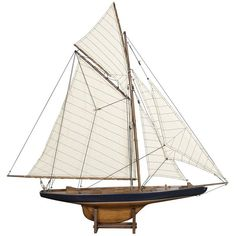 Authentic Models Americas Cup Columbia 1901 Large ($440) ❤ liked on Polyvore featuring home, home decor, fillers, decor, nautical, props, backgrounds, cream, nautical home decor and authentic models