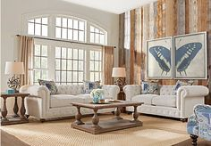 Cindy Crawford Home Knightsbridge Ivory 7 Pc Living Room