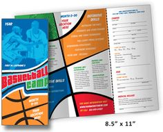 Basketball templates 28 best sport flyer templates for Sports camp brochure template