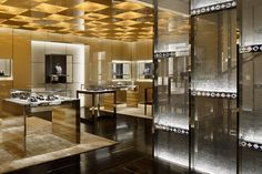 The interior of Louis Vuitton Ginza, designed by Gwenael Nicolas in 2012