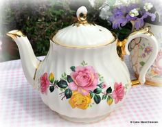 Vintage Teapots   vintage china teapot, milk jug and sugar bowl. Vintage teapots ...