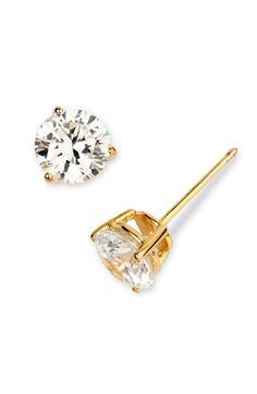Classically chic, handcrafted studs feature a sparkling faceted stone secured by a triple-pronged setting. Color(s): gold vermeil, sterling platinum. Style Name: Nordstrom Boxed Round tw Cubic Zirconia Earrings. Silver Earrings, Stud Earrings, Jewellery Earrings, Cubic Zirconia Engagement Rings, Women Jewelry, Fashion Jewelry, Cubic Zirconia Earrings, Sea Glass Jewelry, Statement Jewelry