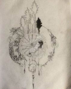 Compass Tattoo Design series part 1 WIP by Salix-Tree.deviantart.com on @DeviantArt