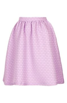 { Textured A-Line Skirt }