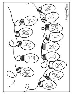 Sharpen your crayons as we have a whole lot of unique Christmas coloring pages for kids to share. Great for toddlers, preschool, kindergarten and older. Preschool Christmas, Christmas Activities, Christmas Crafts For Kids, Christmas Colors, Christmas Art, Holiday Crafts, Holiday Fun, Merry Christmas Drawing, Easy Christmas Drawings