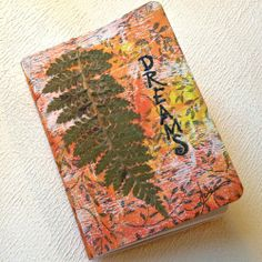 "Nature inspired, mixed media mini writing journal, ""Dreams"""