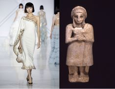 Ralph & Russo Spring collection 2017 Mesopotamian Shawl BCE Last spring Ralph & Russo revived ancient Mesopotamia with this midi-length cape dress. Ancient Mesopotamia, Image Resources, Ralph And Russo, Cape Dress, Spring Collection, Runway Fashion, Islam, Identity, Ideias Fashion