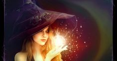 magickal WITCH with crystal ball - plum Magick, Witchcraft, Wiccan Witch, Black Magic Spells, Wizard Wand, Believe In Magic, Love Spells, Book Of Shadows, Faeries