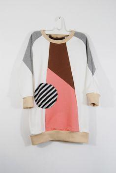 geo dress with striped DOT KSWDR1502