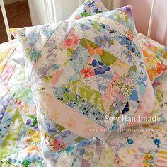 String Block Pillow by Jodie Bissig, via Flickr