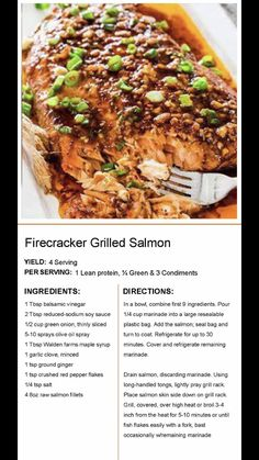 Salmon Recipes, Fish Recipes, Seafood Recipes, Cooking Recipes, Healthy Recipes, Healthy Habits, Recipies, Lean Protein Meals, Lean Meals