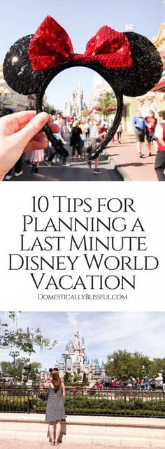 10 tips for planning a last minute Disney World vacation that will help you have a fun & memorable time with the shortest wait times. Disney Vacation Planning, Orlando Vacation, Disney World Planning, Disney World Vacation, Disney World Resorts, Disney Vacations, Vacation Trips, Trip Planning, Orlando Florida