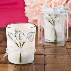 Enchant your guests with this Silver Calla Lily Design Votive Candle Holder that they can take home as a reminder of your special event. Votives make fabulous favors and also create a captivating ambiance. Food Wedding Favors, Unique Wedding Favors, Bridal Shower Favors, Wedding Ideas, Bridal Showers, Wedding Centerpieces, Elegant Wedding, Candle Holders Wedding, Votive Candle Holders