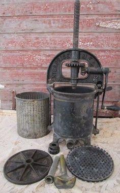 Antique Vintage 8 quart Enterprise 2092 Meat Sausage Fruit Lard Press Cast Iron  #Enterprise