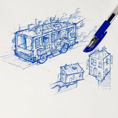 Felt bored during class.😂😂 #Sketch #🚌 #🏠 Follow me on instagram: @tw.chicken #20161024 Follow Me On Instagram, Perspective, Arch, Sketch, Felt, Chicken, Book, Drawings, Inspiration