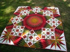 lone star top - fabulous Kathie Boucher designed and made quilt. Love the colors and the design. Lone Star Quilt, Star Quilts, Quilt Blocks, Quilting Projects, Quilting Designs, Quilting Blogs, Star Quilt Patterns, Block Patterns, Canvas Patterns