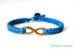 CLEARANCE SALE  Turquoise Infinity Bracelet by MandarrCreations