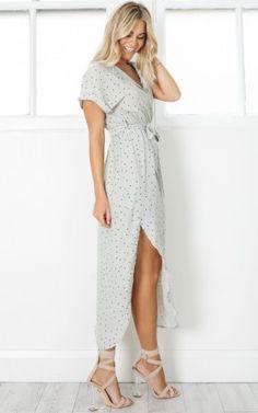 Efficient Dress in khaki polkadot