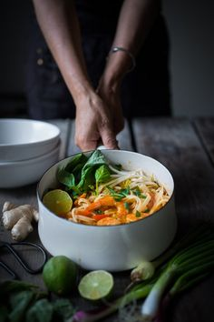 15 minute Thai Curry Noodles, a flavor bomb that can be made with tofu, shrimp or chicken!| www.feastingathome.com