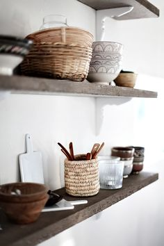 Shelves for storing kitchenstuff | Interior styling | Interior photography | Interior decor | Interior design | Photo styling | Prop styling | shelf styling