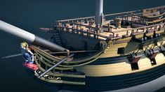 ArtStation - WIP. The seventy-four gun ship, Anastasia Fileva