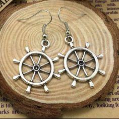 Silver Nautical Earrings Silver Nautical Earrings Jewelry Earrings