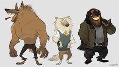 Werewulvs by Sydsir.deviantart.com on @DeviantArt #character #anthropomorphic #design #werewolf the comfort zone