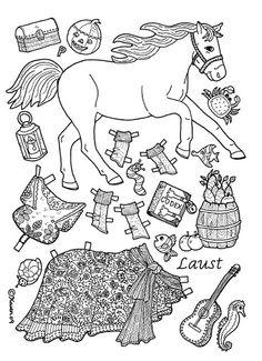 Laust Horse Paper Doll in Colours and to Colour. Laust heste påklædningsdukke. – Karen Bisgaard – Picasa Nettalbum