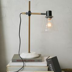 Sleep   Illuminate   Bed Side Lamp Option 1   West Elm   Factory Task Lamp