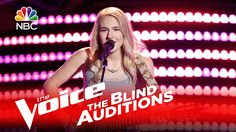 """Peyton Parker's blind audition version of the Fleetwood Mac classic """"Dreams"""" earns her a place on Team Blake, despite Christina's best efforts. » Get The Voi..."""