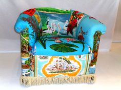 Turquoise tubchair