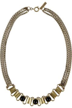 Isabel Marant|Town gold-tone agate necklace|NET-A-PORTER.COM