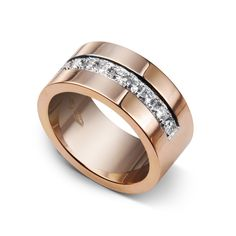 Rose gold wedding ring from Hovjuvelerare Gunnar Fahlström
