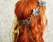 Lelia's crown - ivory floral crown. $45.00, via Etsy.