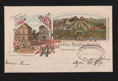 Leipzig-Kleinzschocher - Litho - Etablissement  Terrasse  (1912)