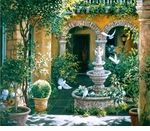 """Susan Rios Handsigned and Numbered Limited Edition Iris Giclee on canvas:""""Courtyard of the Angel"""""""