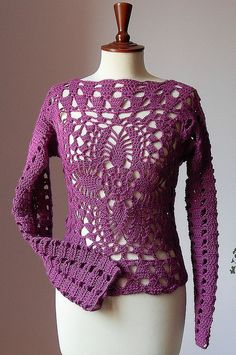 Urban Cool - Lace Crochet Sweater/Tank by silvia66, via Flickr