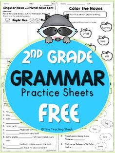 These handy no-prep practice sheets should help your students get extra practice on their grammar. This packet is made for second grade, but it is also suitable for advanced first graders or third graders who need extra help. I always find it useful to have extra practice sheets to review the materials we cover in class.