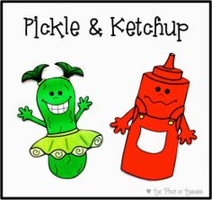 """Bright Ideas Link-Up: A Simple Classroom Management Idea. On Fridays, place them on the board. Anyone who has turned in all of their assignments is a """"pickle"""" so write their name under the pickle sign. Anyone who is missing an assignment has their name placed under the ketchup bottle. Pickles can """"pick"""" a fun game or activity, while """"ketchups"""" catch up on missing work. It is amazing how quickly assignments come in!"""
