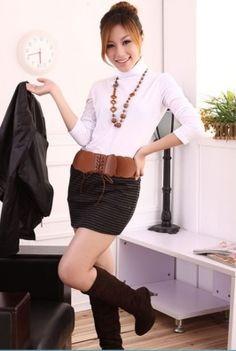 Lady Stripe Short Skirt Deep Grey Cotton Skirt, Striped Shorts, Latest Fashion For Women, Short Skirts, Deep, Stylish, Blouse, Lady, Clothes
