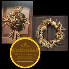 Colonial Williamsburg wreaths #christmas #wreaths thehomemadefig.com