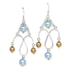 Sterling Silver Simulated Pearl Earrings