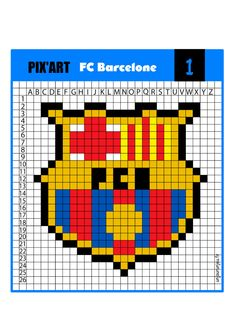 Art Football, Logo Football, Pixel Beads, Fuse Beads, Pixel Art Foot, Pixel Art Halloween, Modele Pixel Art, Arts Barcelona, College Aesthetic
